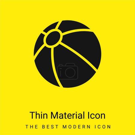 Beach Ball minimale leuchtend gelbe Material Symbol
