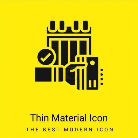 Illustration pour Icône minimale annuelle de matériau jaune vif - image libre de droit