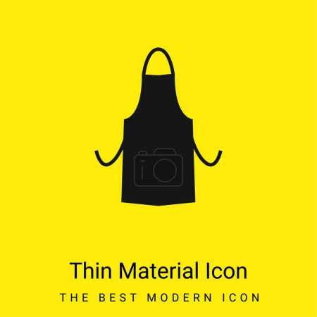 Illustration for Apron Silhouette minimal bright yellow material icon - Royalty Free Image