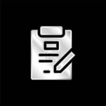 Illustration pour Accord argent plaqué icône métallique - image libre de droit