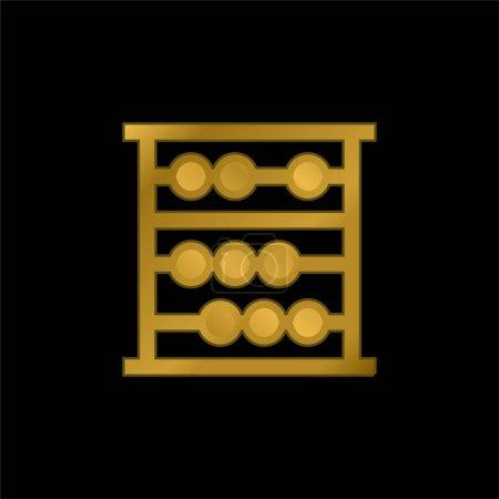 Illustration pour Icône métallique plaqué or Abacus ou vecteur de logo - image libre de droit