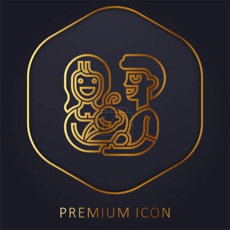 Annahme eines Premium-Logos oder -Symbols der goldenen Linie