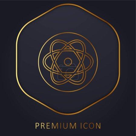 Photo pour Atom Golden Line logo premium ou icône - image libre de droit
