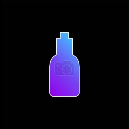 Illustration pour Icône vectorielle de dégradé bleu bouteille - image libre de droit
