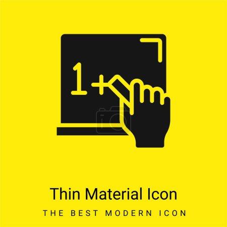 Blackboard minimal bright yellow material icon