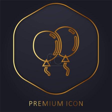 Ballons ligne d'or logo premium ou icône