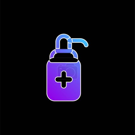 Illustration for Antibacterial Gel blue gradient vector icon - Royalty Free Image