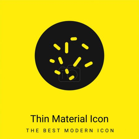 Illustration for Bacterias View minimal bright yellow material icon - Royalty Free Image
