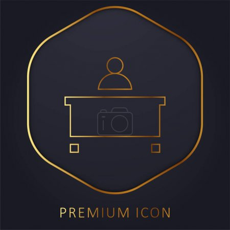 Illustration pour Ligne d'or administrateur logo premium ou icône - image libre de droit