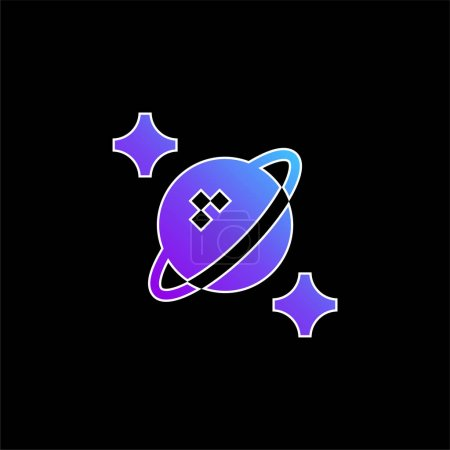 Astrophysics blue gradient vector icon