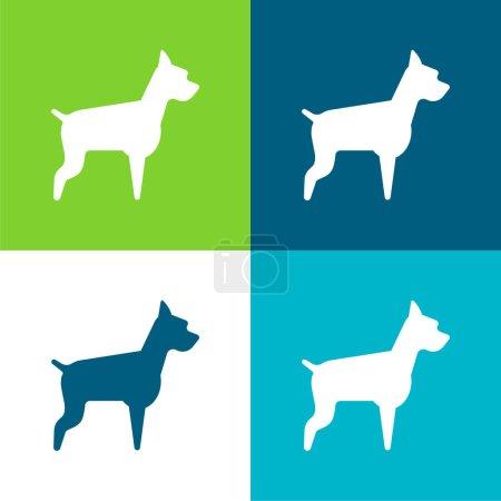 Illustration for Big Dog Flat four color minimal icon set - Royalty Free Image