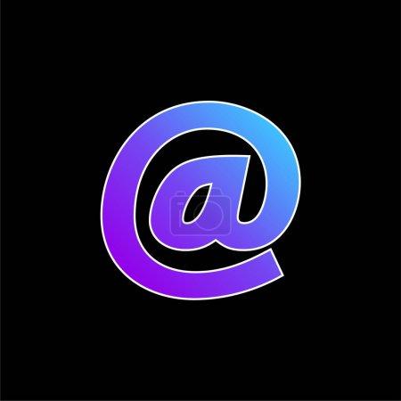 Arroba Symbol blue gradient vector icon