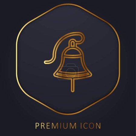 Illustration for Bell golden line premium logo or icon - Royalty Free Image