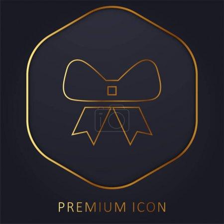 Illustration for Bow golden line premium logo or icon - Royalty Free Image