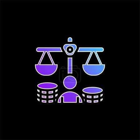 Icône vectorielle de dégradé bleu balance