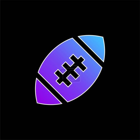 Illustration for American Football blue gradient vector icon - Royalty Free Image