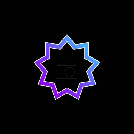 Photo for Baha a blue gradient vector icon - Royalty Free Image