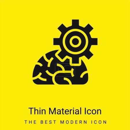 Illustration pour Algorithme minimal jaune vif icône matérielle - image libre de droit