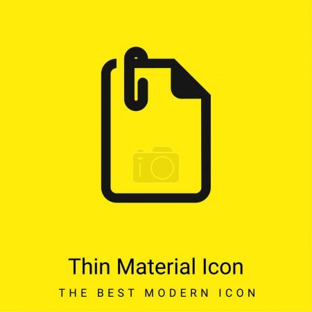 Illustration for Attach File minimal bright yellow material icon - Royalty Free Image