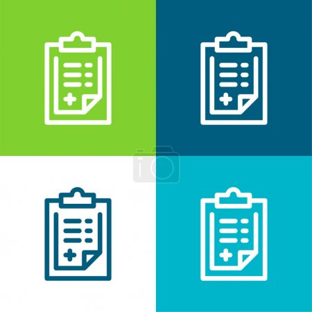 Illustration for Admision Form Flat four color minimal icon set - Royalty Free Image