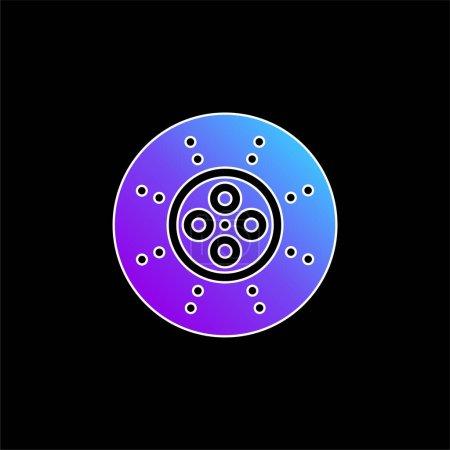 Illustration pour Icône vectorielle de dégradé bleu cassé - image libre de droit
