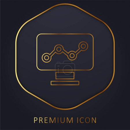 Photo pour Analytics Golden Line logo premium ou icône - image libre de droit
