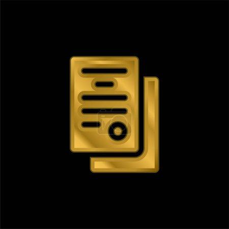 Illustration pour Accord plaqué or icône métallique ou logo vecteur - image libre de droit