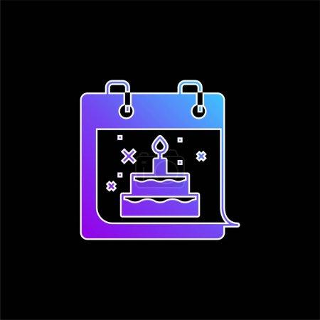 Birthday blue gradient vector icon