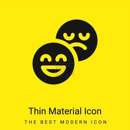 Illustration pour Attitude minimale jaune vif icône matérielle - image libre de droit