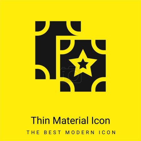 Illustration pour Astrologie minime icône matériau jaune vif - image libre de droit