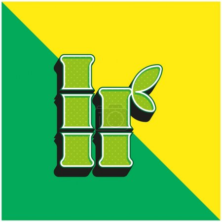 Photo for Bamboo Green and yellow modern 3d vector icon logo - Royalty Free Image