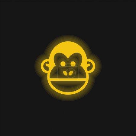 Animal yellow glowing neon icon
