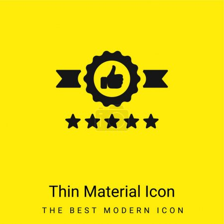 Illustration for Badge minimal bright yellow material icon - Royalty Free Image