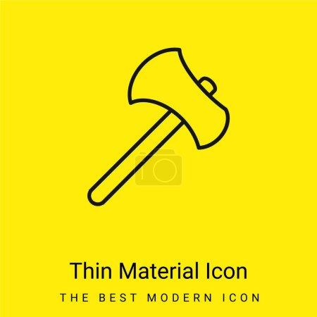 Illustration pour Outil de hache Décrivez l'icône matérielle jaune vif minimale - image libre de droit