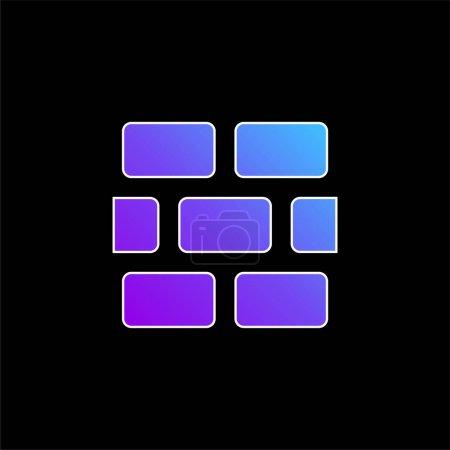 Photo pour Icône vectorielle gradient bleu brique - image libre de droit