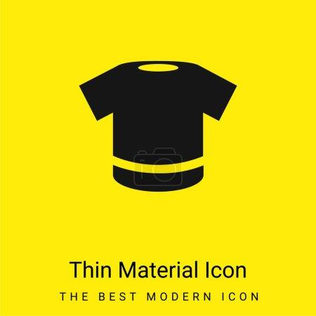 Illustration pour Chemise noire minime jaune vif icône matérielle - image libre de droit