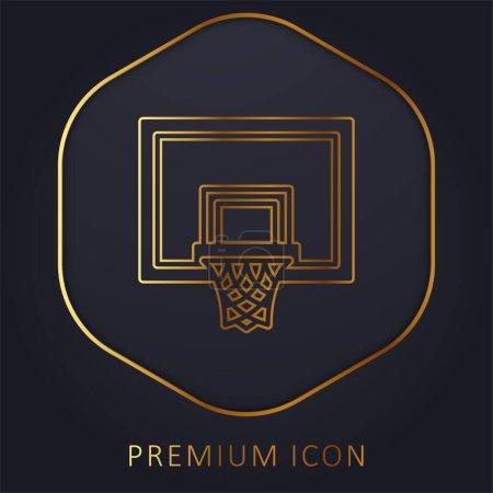 Illustration pour Basketball ligne d'or logo premium ou icône - image libre de droit