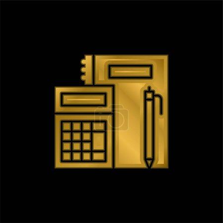 Illustration pour Icône métallique plaqué or comptable ou vecteur de logo - image libre de droit