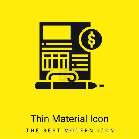 Balance Sheet minimal bright yellow material icon
