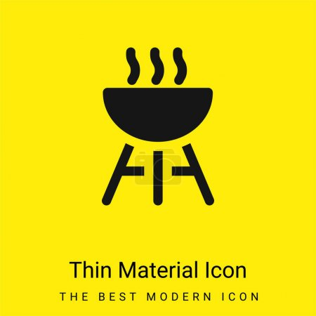 Illustration for Barbecue minimal bright yellow material icon - Royalty Free Image