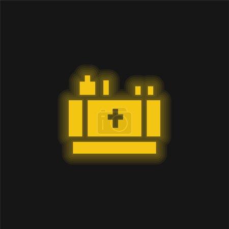 Photo pour Autel jaune brillant icône néon - image libre de droit