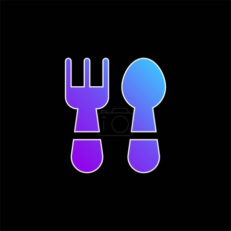 Baby Cutlery blue gradient vector icon