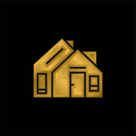 Illustration pour Adresse icône métallique plaqué or ou vecteur de logo - image libre de droit
