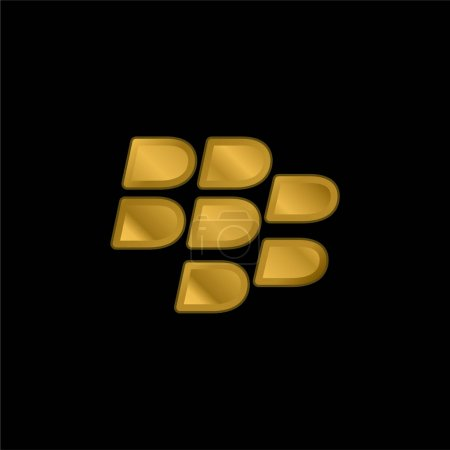 Illustration for Blackberry gold plated metalic icon or logo vector - Royalty Free Image