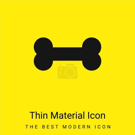 Illustration pour Icône matérielle jaune vif minimale osseuse - image libre de droit
