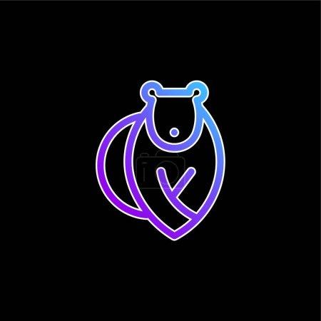 Illustration pour Ours bleu dégradé vecteur icône - image libre de droit
