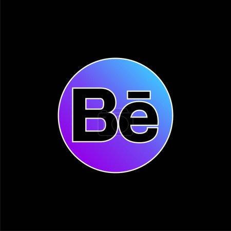 Illustration pour Behance Logo bleu dégradé icône vectorielle - image libre de droit