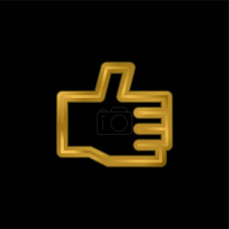 Illustration for Approve gold plated metalic icon or logo vector - Royalty Free Image