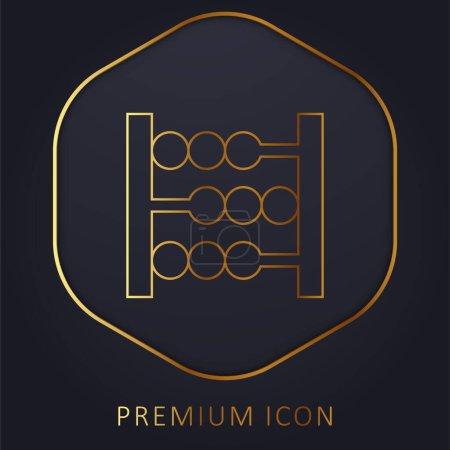 Photo pour Logo ou icône Abacus Golden Line Premium - image libre de droit