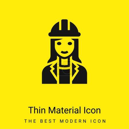 Illustration pour Architecte minime icône matérielle jaune vif - image libre de droit